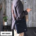 ANDY HAWARD 縦型ショルダーバッグ /男性用/メンズ/ショルダーバッグ/斜めがけバッグ/B5/帆布/キャンバス/日本製/iPad…