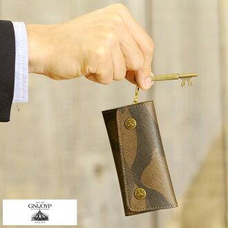 把供GNUOYP nyupi 4連鑰匙包/男性使用的人/鑰匙包/智能鍵/日本製造/鑰匙情况/鑰匙放進去/漂亮的/僞裝色花紋botanikaru花紋/禮物/