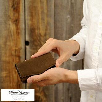 供Mark Boots鹿皮鑰匙包/男性使用的人/鑰匙包/皮革本皮革皮革/日本製造/鹿皮/鑰匙情况/鑰匙圈/簡單的/禮物/