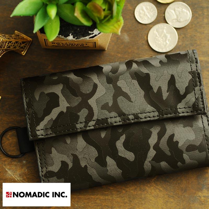 NOMADIC Trifoid Wallet 迷彩三つ折り財布 ブラック PA-11-07