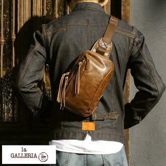 身體包人本皮革青木包小挎包la GALLERIA Zingaro cp256人身體包皮革書皮革日本製造