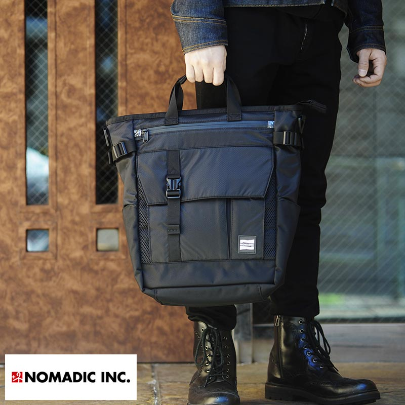 NOMADIC 3wayトートバッグ 男性用 メンズ トートバッグ 3way リュック ショルダーバッグ ナイロン 軽量 B4 鞄 かばん バッグ