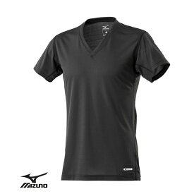 Mizuno ハイドロ銀チタン 消臭・速乾インナーシャツ 男性用 メンズ Tシャツ 肌着 下着 インナー Vネック 半袖 無地 ドライ デオドラント ギフト プレゼント