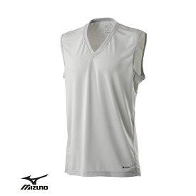 Mizuno ハイドロ銀チタン 消臭・速乾ノースリーブインナーシャツ 男性用 メンズ タンクトップ 肌着 下着 インナー Vネック 袖なし 無地 ドライ デオドラント プレゼント ギフト