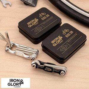 【 ポイント5倍 】 Iron&Glory マルチツール レンチ & ドライバー セット Ride On メンズ 便利 ツール 工具 六角 プラスドライバー マイナスドライバー