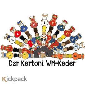 Kickpack kartoni カルトーニ2.0 組み立てテーブルサッカー用 プレイヤー12体セット フーズボール ゲーム 大人 おしゃれ テーブルサッカー 卓上サッカー 室内 遊び 大人も楽しめるおもちゃ スポーツバー