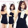 萬聖節 cosplay 服裝動物黑貓角色扮演貓耳朵貓耳朵頭帶貓女僕萬聖節 cosplay 化裝萬聖節服裝貓貓貓服裝婦女萬聖節服裝
