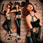 コスプレハロウィンコスチュームアニマルエナメルボンテージコスプレ衣装黒猫cat女性猫耳セクシー仮装大人こすぷれcoscosplayhalloweencostume通販レディース