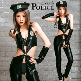 コスプレ ポリス ハロウィン 仮装 衣装 セクシー 警察 警官 帽子 手錠 警棒 仮装 ハロウィン衣装 コスチューム こすぷれ コス エロ 大人 レディース