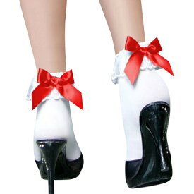 コスプレ セーラー服 衣装 コスチューム コスプレ衣装コスチューム ハロウィン コスプレ 衣装 コスチューム コスプレ衣装 コス 小物 靴下 サテン リボン オフホワイト ファッションストッキング