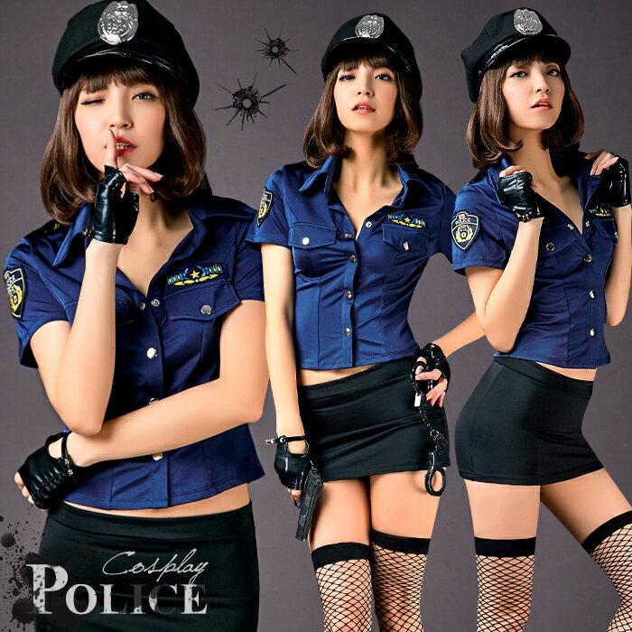 ハロウィン コスプレ ポリス 衣装 セクシー 大きサイズ 警察 ポリス帽子 婦警 制服 セクシーコスチューム コスプレ衣装 コスプレポリス