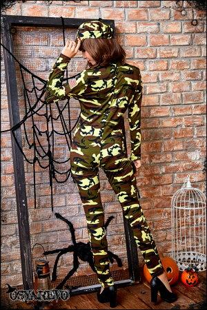 コスプレポリスアーミーミリタリー迷彩コスチューム婦人警官セクシーハロウィンコスプレ制服
