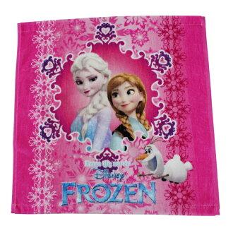 迪士尼毛巾擦手巾安娜冰雪女王迪士尼公主毛巾毛巾安娜雪幼稚園入學手帕毛巾