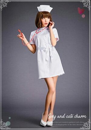 コスプレナースコスプレ衣装ナース服セクシー衣装ハロウィンコスチューム衣装レディース看護婦制服コスプレ女医白衣ミニワンピセクシーガーターナース服ナースキャップ大人コスプレcosplayコスプレナース服仮装衣装コスプレ