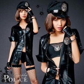 ハロウィン コスプレ ポリス 警察 警官 婦警 キャラクター セクシー 大人 レディース 帽子 制服 コスチューム
