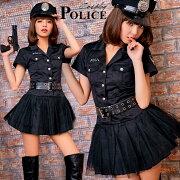 コスプレコスプレ衣装セクシー制服ミニスカ帽子警察ハロウィンコスチューム衣装ミニスカート大人costume女性婦人警官仮装衣装