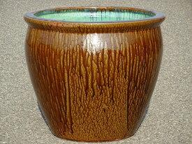 【送料無料】水鉢 2【灰釉】Dサイズ 睡蓮鉢 水鉢 メダカ 飼育 鉢