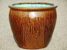 【送料無料】水鉢 2【灰釉】Aサイズ 睡蓮鉢 水鉢 メダカ 飼育 鉢