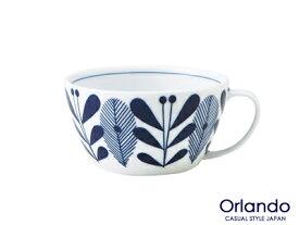 クーポン配布中!オーランドUKスープカップ 300cc 軽量 うすかる 白磁 スープマグ 藍色 北欧風 美濃焼 国産 trys亜