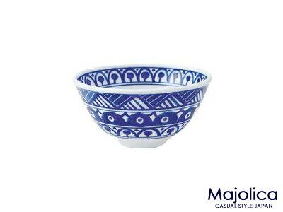 【在庫限り終了】マジョリカYK130ライスボール【直径13cm・軽量・うすかる・白磁・小鉢・洋風ご飯茶碗・ごはんちゃわん・深鉢・食器・藍色・北欧風・美濃焼・国産】【trys亜】