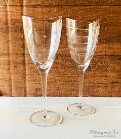 クーポン配布中!送料無料アイテム P10倍 MERLOT (メルロー) ワイングラス290ビーズ&ウェーブペアセット 容量284cc 箱入り stock ガラスコップ セット おしゃれ ギフト プレゼント 引き出物