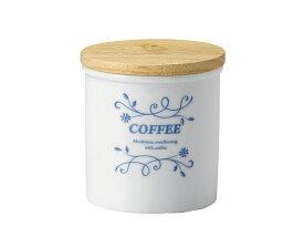 《割引クーポン有》COOKキャニスターS COFFEE 【360cc 珈琲 シンプル 北欧風 アンティーク 陶器 保存容器 木蓋】【trys】