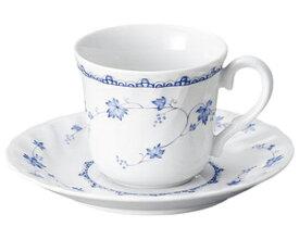 \クーポン配布中!/ロールスタン コーヒー碗皿 カップ&ソーサー C&S 洋陶 磁器 白 青 小花 国産 stockヤ
