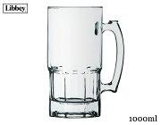BEERジョッキ5671【容量1000ml・ビアジョッキ・ビアグラス・ビールジョッキ・ガラス・メキシコ産】【trysワ】