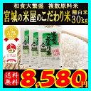和食大繁盛!!宮城の米屋のこだわり米 精白米30kg!お一人様1点限り!お米のプロのこだわりブレンド!【複数原料米】【ブレンド米】【送料無料】【RCP】
