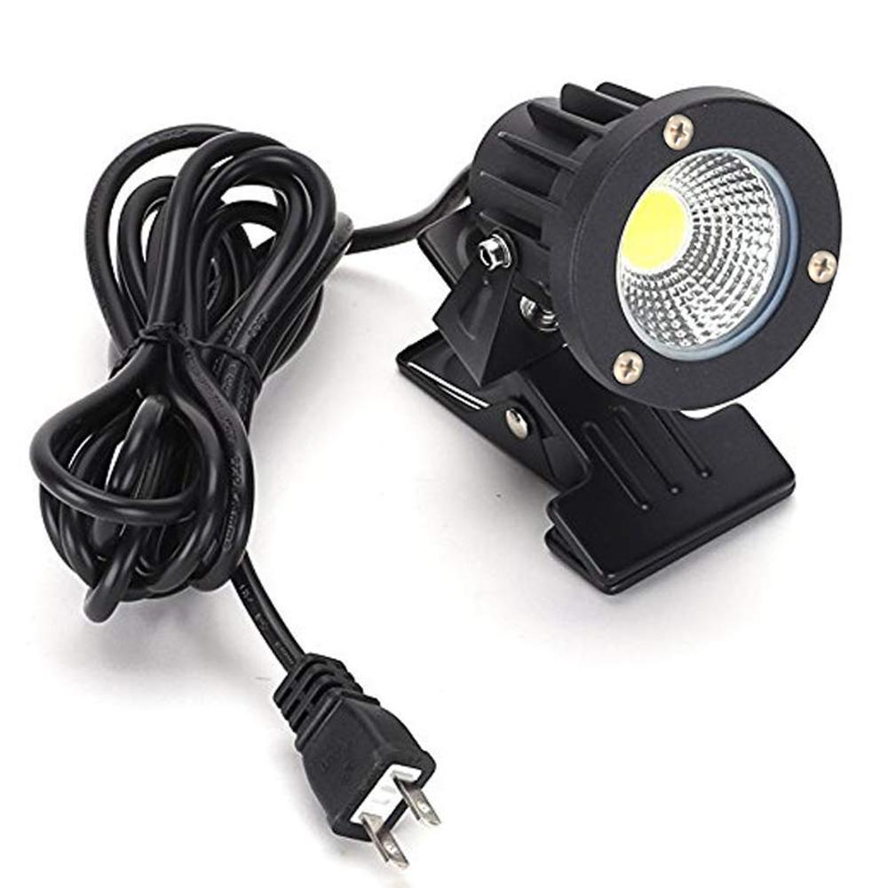 電球色 LEDクリップライト 小型 (PSE)規格品 防雨 防水型 5W (40W相当) スイッチなし コード長3m 看板用・黒板用照明/店舗看板用/店頭看板/LEDライト/電気スタンド/デスクスタンド/アームライト/ピッコロライト/アウトドア・エクステリアライト あす楽