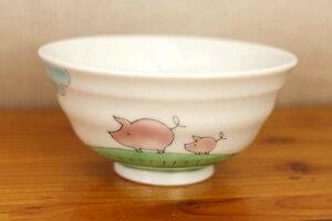 【九谷焼】小飯碗ピッグス/西野美香