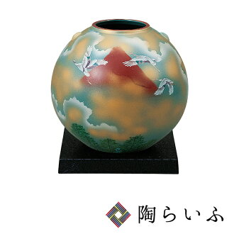 It is crane <> vase vase popularity gift present wedding present / family celebration / gift in return / in 7 vase (with a table) red Fuji