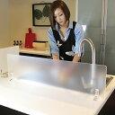 アクリル 水はね防止 パーテーション キッチンスタンド RA900 ランクアップタイプ ワイドサイズがオーダー制 !全9色 アイランドキッチ…