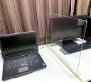 T型 アクリルパーテーション 60センチ×45センチ アクリル板パーテーション デスク カウンター パーティション仕切り パネル 飛沫対策 …
