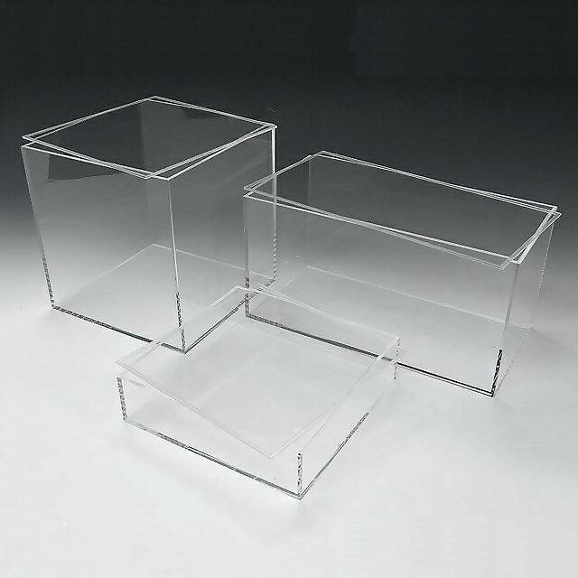 アクリル 透明 収納 BOX W450mm×H50mm×D350mm 4mm厚アクリル板 アクリルケース 物入れ クリア プラスチックケース 透明ケース アクリルBOX アクリルボックス