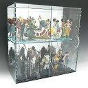 アクリルガラス色コレクションラック W600×H450×D200 背面ミラー 引き戸タイプコレクションボード アクリルボックス クリアケース(アクリル ケース ...
