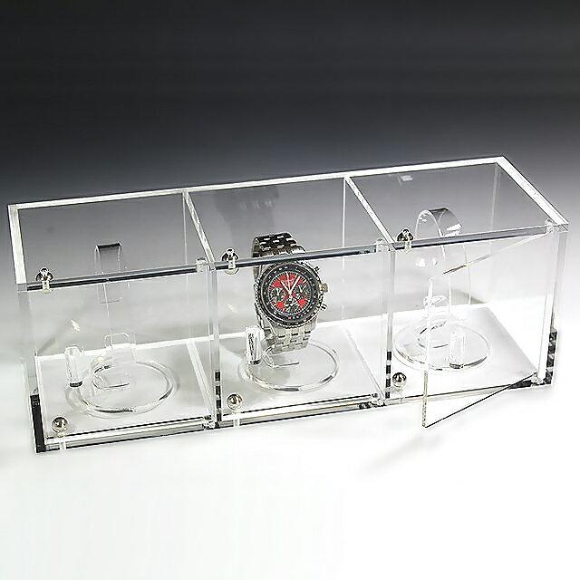 腕時計ショーケース(時計スタンド3個込み)腕時計ケース 収納ケース アクリルケース (アクリルケース コレクションケース ディスプレイケース アクリルケース)