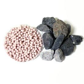 ラジウム(ラドン)セラミックボール+シリカ鉱石+ブラックトルマリン鉱石温浴セット