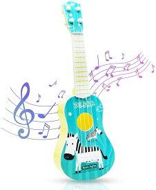 子供用 ギター ミニ ウクレレ 初心者 ギター おもちゃ 知育玩具 楽器玩具 子供の日 誕生日 プレゼント ギフト おもしろい