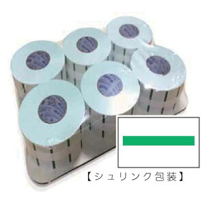 SATO サトー UNOFOOD/UNO2W用ラベル 緑ライン 新耐水紙 冷凍糊 6巻