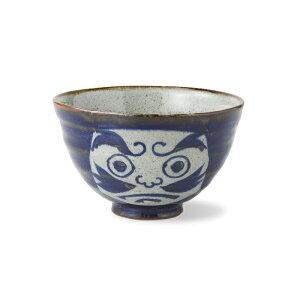 波佐見焼 福だるま 飯碗(大・青) Φ11.5×7cm 350ml お茶碗 陶器 はさみ焼 ごはん茶碗 和食器 うつわ 国内産 飯碗 通販 HASAMI おしゃれ