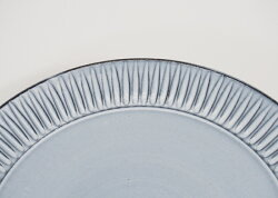 24.5センチの盛皿・北欧モダン・ブルー・プレート(LL)《波佐見焼(はさみ焼)モダン》(有田焼としても流通)モダンブルー73507