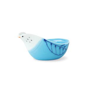 波佐見焼 tori トレイ(POPO) 青 ブルー 鳥 小付 ソース入れ ディップ はさみ焼 磁器 HASAMI おしゃれ