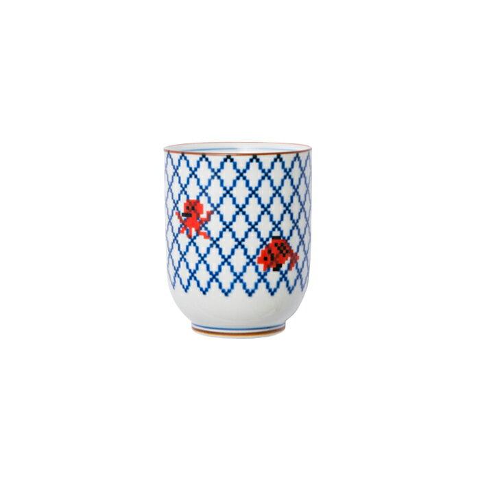 波佐見焼 網目 湯呑 ゆのみ 湯飲み コップ カップ お茶 日本茶 日本土産 ギフト 贈り物 通販 楽天 大図まこと プレゼント ポップ ポーセリンズ The Porcelains HASAMI おしゃれ