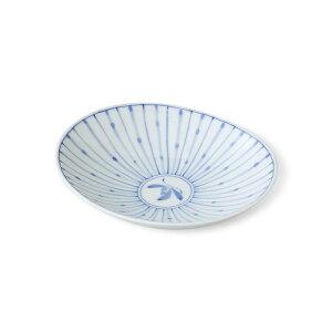 波佐見焼 十草蘭 楕円皿(中)15.5×13×4cm はさみ焼 お皿 プレート 中皿 盛り皿 磁器 通販 和食器 HASAMI おしゃれ