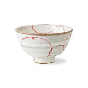 波佐見焼 丸つなぎ 軽量飯碗(赤) Φ11.5cm お茶碗 おちゃわん ご飯茶碗 めしわん ごはん 陶器 はさみ焼 和食器 HASAMI おしゃれ