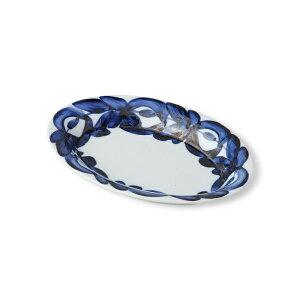 波佐見焼 マジョリカ 楕円皿(小)18×13×高さ2.5cm こざら 和食器 磁器 電子レンジ使用可 はさみ焼 カプレーゼ 前菜 カフェ HASAMI おしゃれ