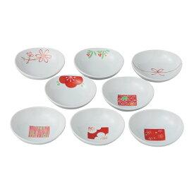 赤絵絵変り 8客姫小付揃 8枚 こつけ 盛り皿 贈り物 ギフト 来客用 通販 楽天 西海陶器 波佐見焼 磁器 HASAMI おしゃれ