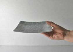 波佐見焼分銅取皿(緑)Φ14.5×高さ3cm取り皿贈り物ギフトお皿プレートはさみ焼磁器電子レンジ使用可