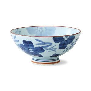 波佐見焼 染花紋 飯碗(特大)375ml 磁器 大きいサイズ 大きめ 小丼 お茶碗 めしわん ご飯茶碗 やきもの はさみ焼 和食器 日常使い HASAMI おしゃれ